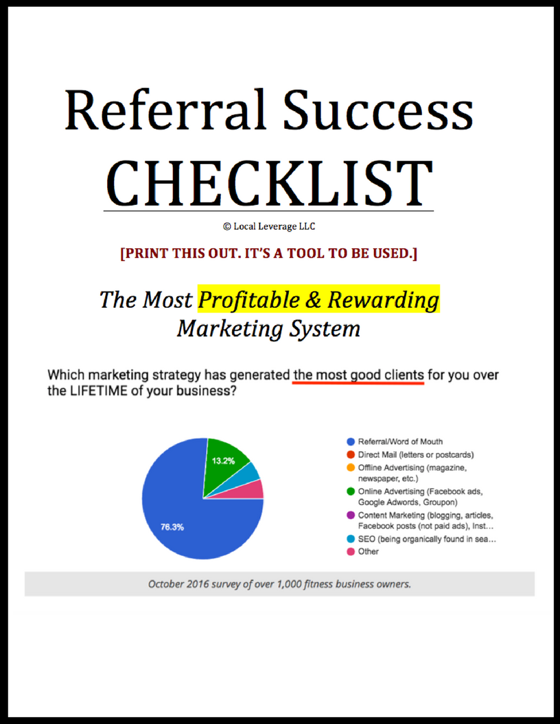 Referral Success Checklist - Eric Ruth